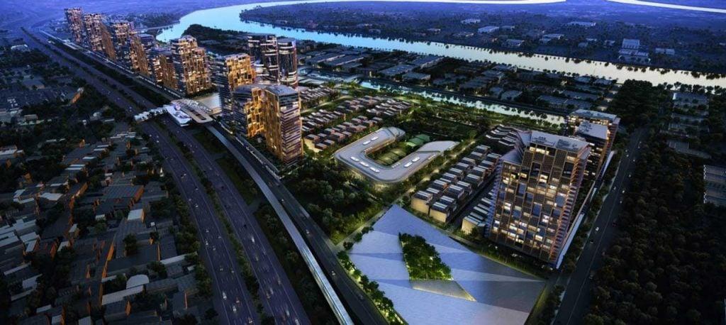 Hình phối cảnh tổng thể dự án Saigon Quays Thủ Đức