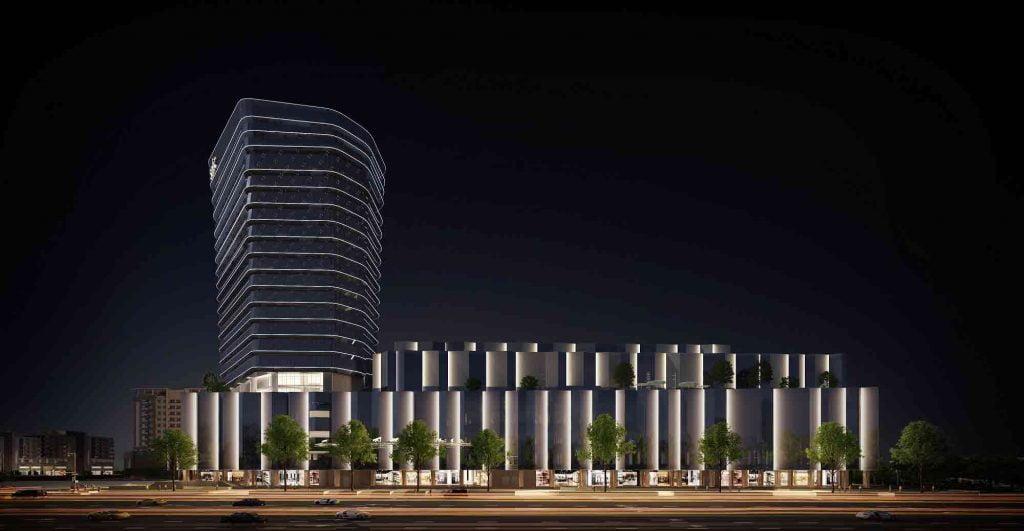 Hình 3D khu trung tâm thương mại Socar Mall Thủ Thiêm