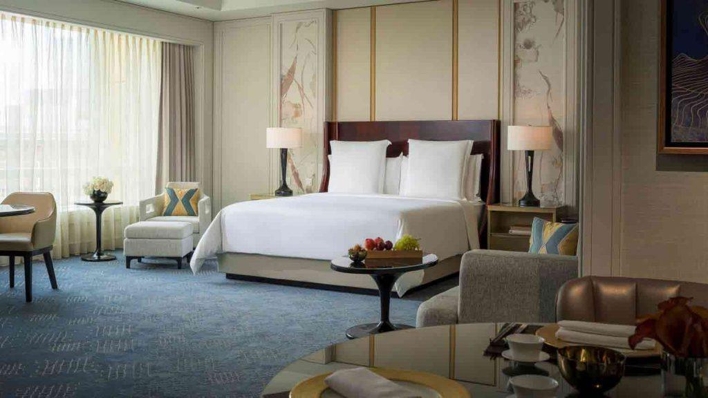 Nội thất bên trong khách sạn theo phong cách Châu Âu kết hợp với Châu Á
