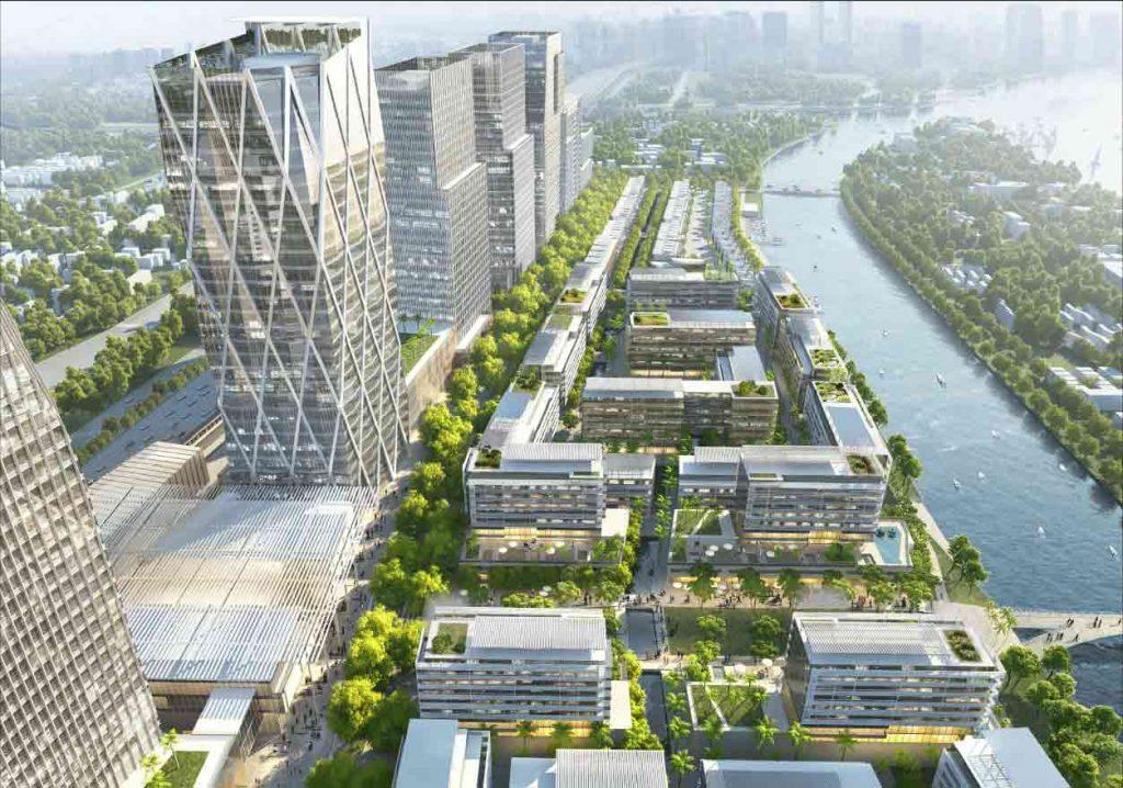 Hình ảnh thiết kế tòa văn phòng và tòa căn hộ Saigon Quays